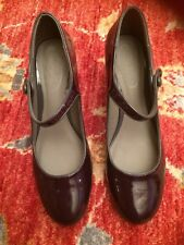 M&S Foot glove Patent Shoes Purple Size 5.5