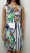 PORTMANS 10 floral print dress .Semi fitted lined. Stretch . Sleeveless