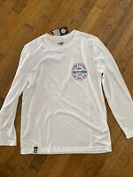 Salty Crew Long Sleeve Tech Shirt Twin Fin Boys Large NEW NWT white find refuge
