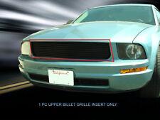 Black Upper Billet Grille Grill  For Ford Mustang V6 2005-2009
