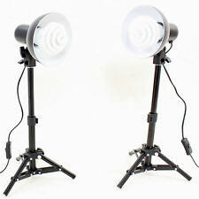 Kit 2x PS01 350W Studioset with Backlight Support Stand,Reflector Spiral Energy