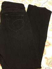 Chico's Platinum Size 0.5 R Quartz Jean Boot Cut Dark Black Stretch Denim