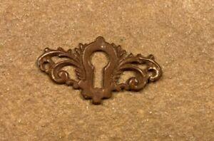 Antique Furniture Lock Brass Key Hole Cover Plate Lock Skeleton Key Escutcheon