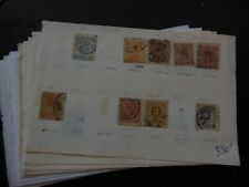 SWEDEN : Mint & Used grouping on Old Time approval pages with many Better.