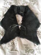 Joseph Grey Shearling Collar Scarf One Size