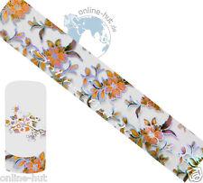 Transferfolie Blumen-Hintergrund Transparent-Irisierend, Nageldesign, Nr.TRF-123