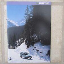 LAND ROVER DISCOVERY 3 5 Door S XS ES V8i Tdi Mpi Petrol Diesel Brochure 1996