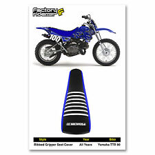 YAMAHA TTR 90 Blue/Black/White RIBBED SEAT COVER BY Enjoy Mfg