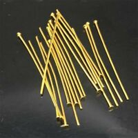 50pcs Stainless Steel Gold Tone Head Pins Findings 25mm DIY Jewelry Making