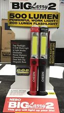 Nebo Big Larry (Gen2) Work Light Flashlight 500 Lumen LED Handheld Red or Black