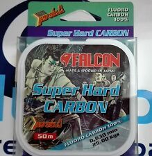 FALCON FLUOROCARBON 100% SUPER HARD CARBON 50m - 25,00 Kgs - 0,630mm