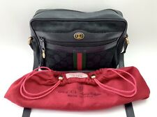 Vintage Gucci Accessory Collection•Black Ophidia Canvas•Crossbody•With Dust Bag