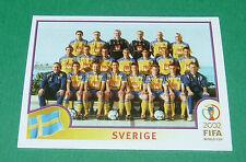 N°439 EQUIPE SVERIGE SUEDE PANINI FOOTBALL JAPAN KOREA 2002 COUPE MONDE FIFA