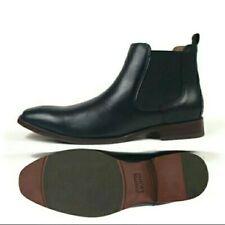 Johnston & Murphy McClain Chelsea Boot Black Leather Ankle Boot Men's Size 9 M