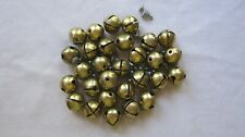 """Lot of 29 Pre-Owned 1"""" Vintage Brass Jingle Bells GC"""