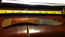 NOS Stainless Steel Brass And Wood Camping Knife horsehead brand