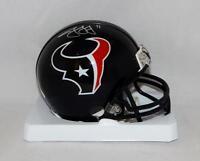 Jaelen Strong Autographed Houston Texans Mini Helmet- JSA Witnessed Auth