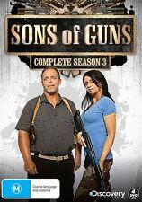 Sons Of Guns : Season 3 (DVD, 2013, 4-Disc Set) New Sealed Region 4