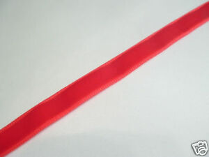 5m x 6mm Velvet Ribbon : 73 Red