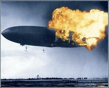 Poster Print:  Hindenburg: Rare Color - Early Stages Of Catastrophe, 1937