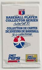 1992 Diet Pepsi (Canada) Unopened Baseball Pack of 3 Cards