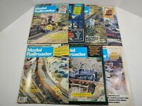 Vintage 1987 Model Railroader Magazine Lot Of 7