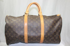 Authentic Louis Vuitton Monogram Keepall 50 Luggage Travel Duffle Duffel Bag