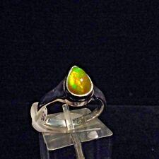 Ring, Gr.59,  Silber 925 mit einem Opal Cabochon aus Äthiopien