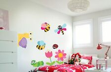 I bambini fiori Divertente API Caterpillar LUMACA Ladybug Wall Sticker Decal 4