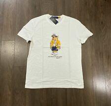 Polo Ralph Lauren CP-93 Nautical Rain Coat Bear Shirt White Men's Size XXL NWT