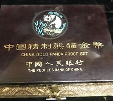 CHINA GOLD PANDA PROOF SET THE PEOPLES BANK OF CHINA BOX ONLY