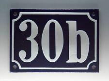 Emaux, E-Mail-numéro de maison 30b en bleu/blanc pour 1955