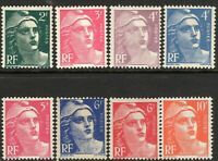 France1947 Marianne unmounted mint SG913/918/919/922/923/924/1001a/1003 (8)