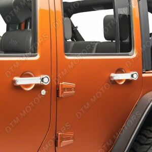 FOR JEEP WRANGLER LIBERTY DODGE NITRO CHROME DOOR HANDLE TAIL COVER COVERS 5PC