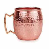 1 Moscow Mule Mug Cup Drinking Hammered Copper Brass Metal Gift Set, 16 Oz NEW