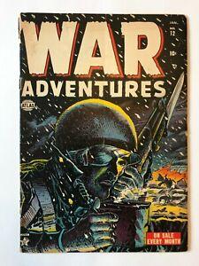 WAR Adventures #12 classic 1953 Atlas cover htf low grade beautiful color