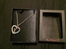 Bunny ( 5 Different Coloured Stones) Silver Colour Playboy Necklace Heart And