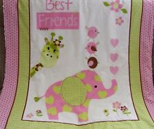 Best Friends Cotton Top White Minkee Cot Blanket Handmade