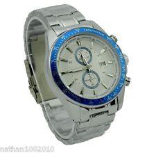 FASHION blu da uomo in acciaio inossidabile Luxury Sport Curren orologio da polso