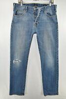 Armani Jeans AJ J21 Regular Button Fly Mens Size 36x32 Blue Meas. 35x32 READ