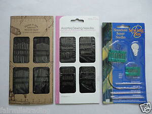 Hand Sewing Needles Assorted Self Threading Repair Embroidery Haberdashery