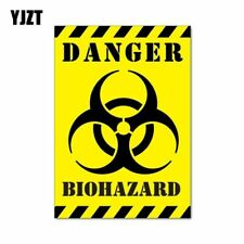 12CM*17.1CM Car Sticker Funny DANGER BIOHAZARD ZOMBIE Reflective Decal C1-7