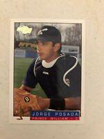 Jorge Posada 1993-94 Fleer Excel #112 Minor League Rookie NY Yankees RC MINT