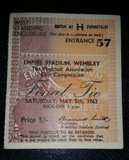 1962 ORIGINAL TICKET FA CUP FINAL TOTTENHAM HOTSPUR v BURNLEY
