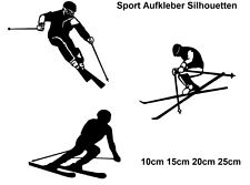 Schifahrer Aufkleber Skifahrer 15, 20, 25cm Alpin carving ski  Autoaufkleber 45