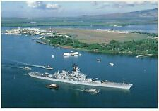 USS Missouri Battleship Honors USS Arizona Memorial Pearl Harbor Hawaii Postcard