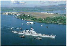 USS Missouri Battleship Honors USS Arizona Memorial Pearl Harbor Hawaii Postcard