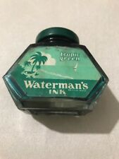 VERY RARE VINTAGE WATERMAN'S TROPIC GREEN BOTTLED INK-NEW OLD STOCK.