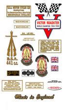 1967: BSA Victor Roadster  - DECAL SET - BSA B44VR