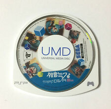 USED PSP Disc Only HATSUNE MIKU Project DIVA 2nd JAPAN Sony PS Portable game